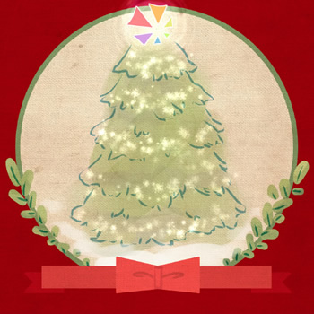 2013 custom Christmas card design & illustration