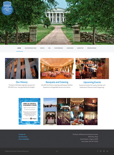 Berry Hill Resort website designer
