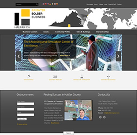 economic development website design