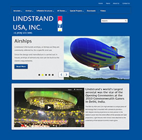 lindstrand usa airship manufacturer website design