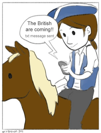 Paul Revere social media cartoon