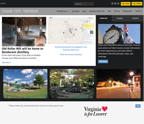 Town of Chase City Virginia website design