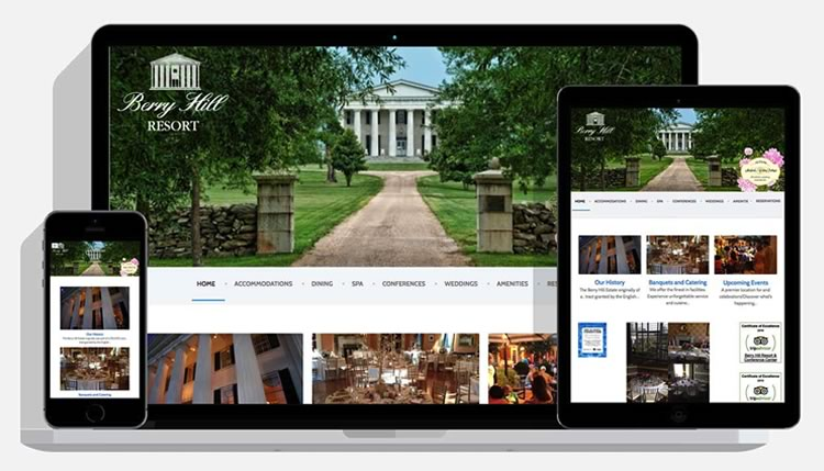 Berry Hill Resort, South Boston VA website design