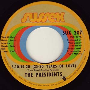 5-10-15-20-25-30 years of love by the Presidents