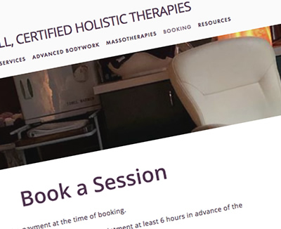 Massage Therapist Online Booking System