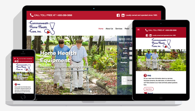 Commonwealth Home Health Care website design