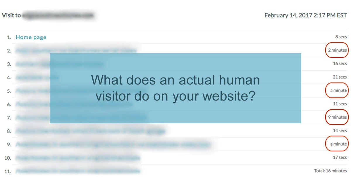Find out what an actual visitor does on your website