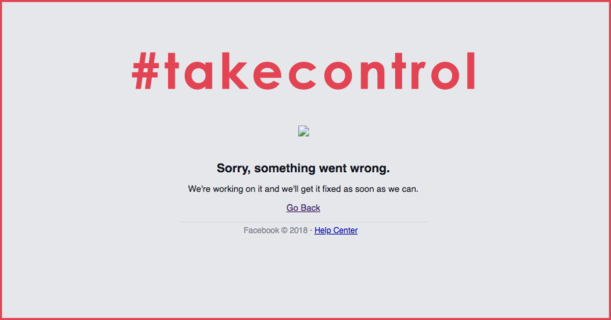 Your business is at risk if you keep ignoring the warnings: don't use Facebook as your website
