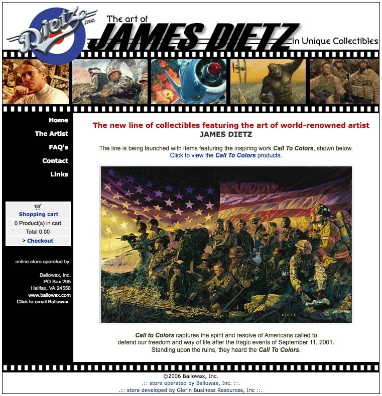 #TBT 2006 artist James Dietz online store