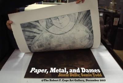 Paper, Metal, and Dames art show by Jessie Della and Samie Todd