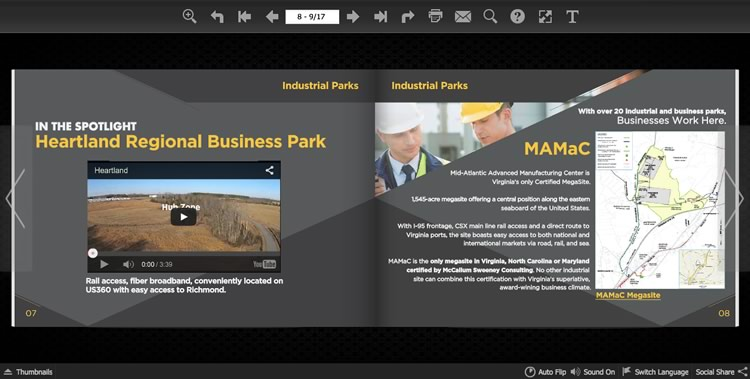 economic development online magazine design