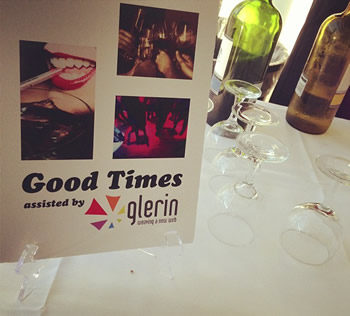 Glerin sponsored the bar at the unveiling