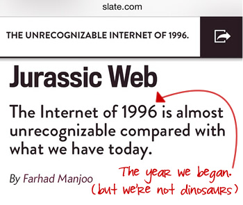 headline of web design history