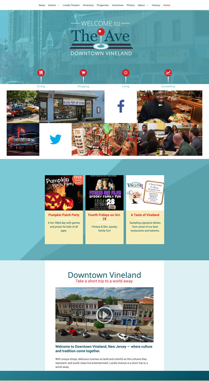 Main Street Vineland NJ rebranding and website design
